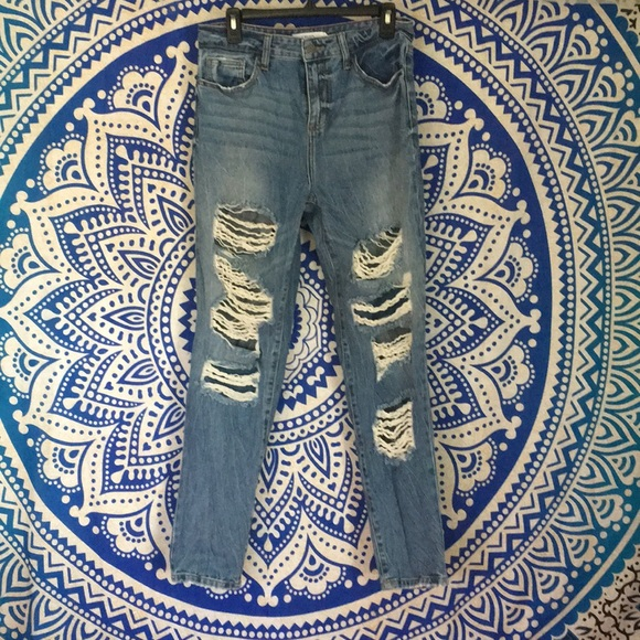 classic fit online shop half off Distressed, High waisted, Boyfriend Jeans!